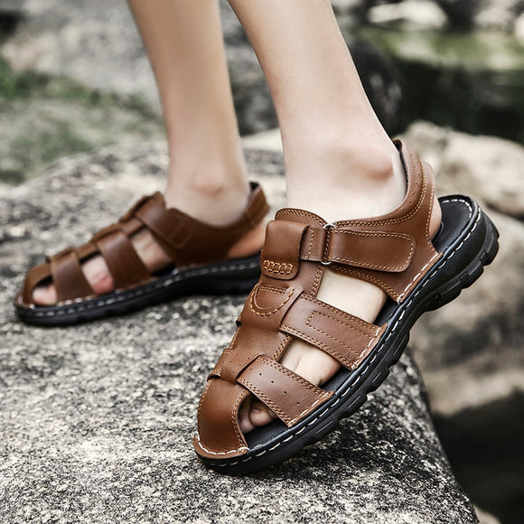 Men Non-Slip Leather Beach Sandals ( 💥Over $89+ ,Code SAVE10🛒)