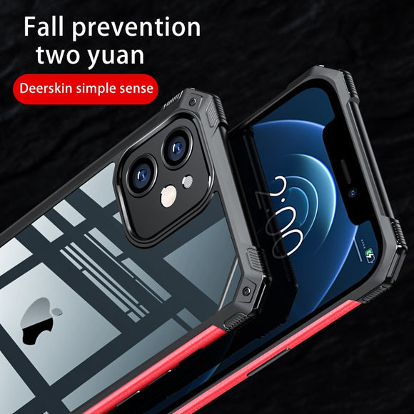Hybrid Shockproof Transparent Leather Case For iPhone 12Pro Max Armor TPU Soft Cover