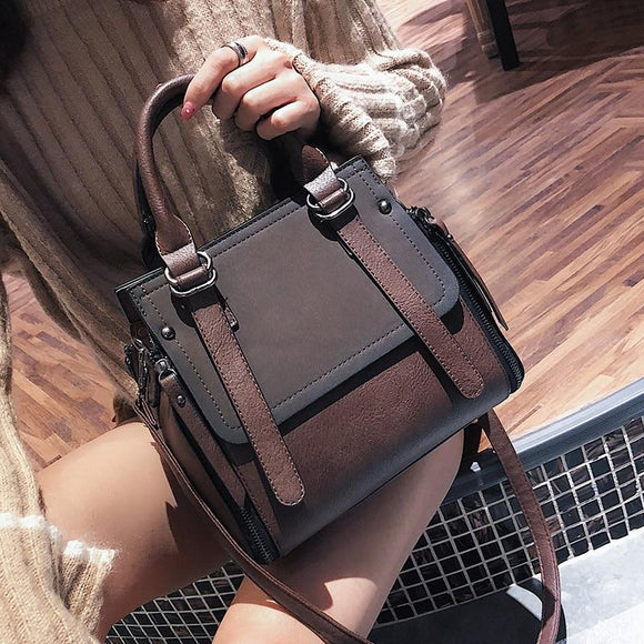 Vintage Handbags 2019 Female Brand Leather Casual Handbag