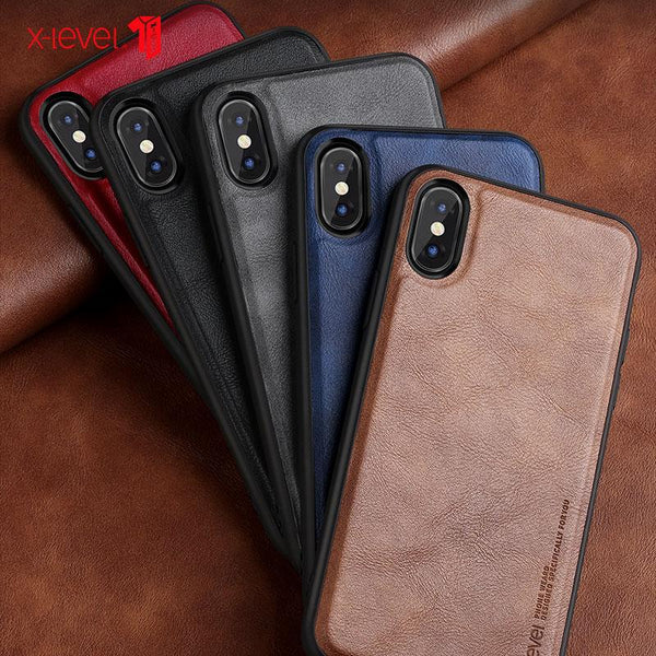 Luxury Leather Business Case For iPhone X XR XS Max