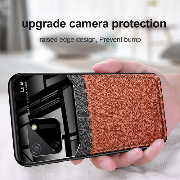 Leather Silicone Shockproof Bumper Case For iPhone 12 Pro Plexglass Protect Lens Back Cover