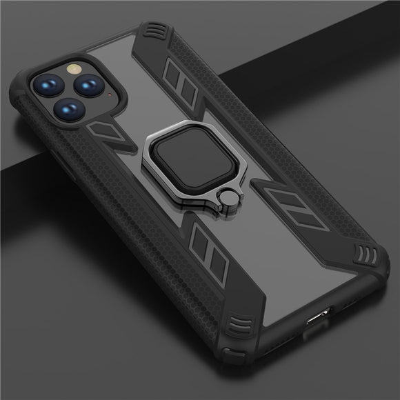 Magnetic Car Finger Ring Armor Case For iPhone 12 Pro Max Non-slip Kickstand Hard Shockproof Back Cover