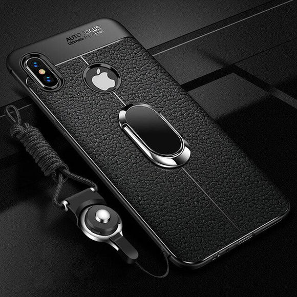 Magnetic Ring Bracket Shockproof Rugged Armor Cover for iPhone 11 11Pro 11Pro MAX X XR XS Max With Strap