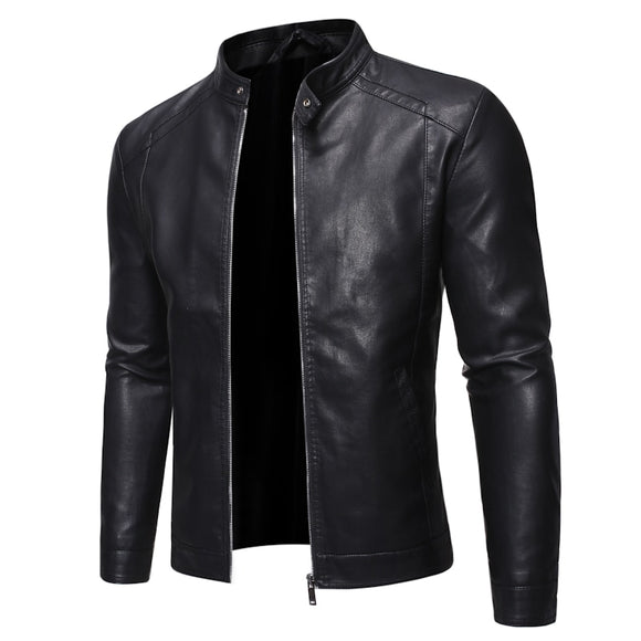 Men Faux Motorcycle 5XL Black Pu Leather Jackets( 🎄Merry Christmas Two Products Discount Code:LK12 )