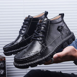 2021 Men's Leather Lace-up High Quality Ankle Boots ( 💥Over $89+ ,Code SAVE10🛒)