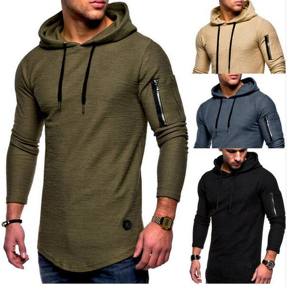 2021 Men's Long Sleeve Casual Zipper Solid Sweatshirt ( 💥Over $89+ ,Code SAVE10🛒)