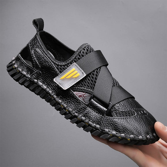 Mens Mesh Leather Breathable Sandals ( 💥Over $89+ ,Code SAVE10🛒)