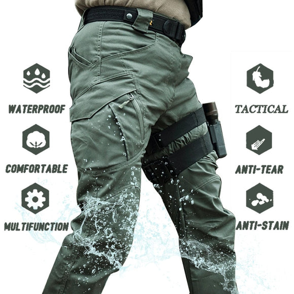 Men Multi-Pockets Military Cargo Pants( 🎄2021 Two Products Discount Code:LK12 )
