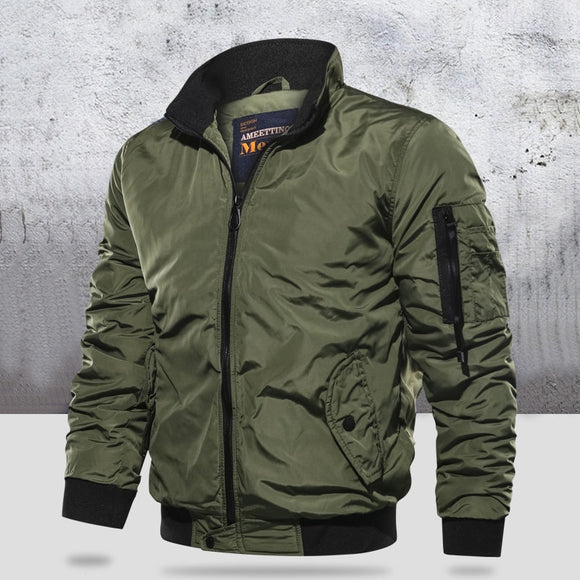 Men Casual Long Sleeve Military Slim Bomber Jacket ( 💥Over $89+ ,Code SAVE10🛒)