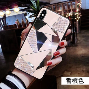 Luxury Creative Mirror Rhombus Phone Case for iPhone X XR XS MAX