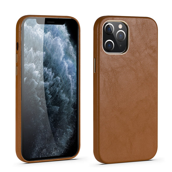 Original Leather Phone Case For iPhone 12 Pro Soft Real Leather Luxury Cover