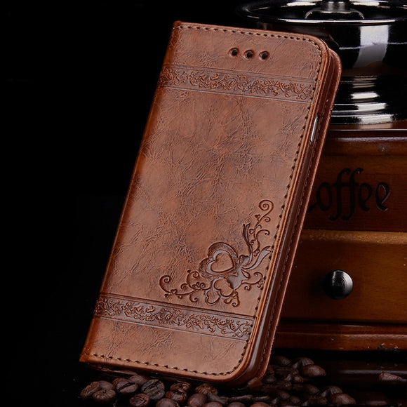 Retro Flip PU Leather Case For iPhone 12  Wallet Relief Cover Coque