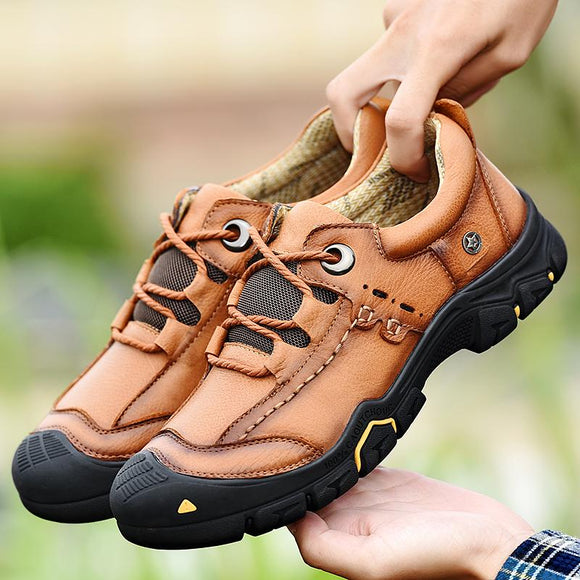 2021 Men's Top Quality Genuine Leather Outdoor Hiking Shoes ( 💥Over $89+ ,Code SAVE10🛒)