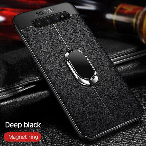 Luxury Soft Case With Car Holder For Samsung S7 Edge S8 S9 Plus Note 8 9 S10 Plus Lite