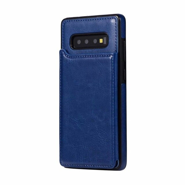 Luxury Retro Leather Card Slot Holder Business Cover Case For Samsung Note 10 Plus S10 plus S10 lite S10 Note 9 8 S9 S8 Plus