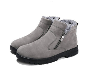 2021 Men Casual Comfortable Round Head Zipper Snow Boots (💥Over $89+ ,Code SAVE10🛒)