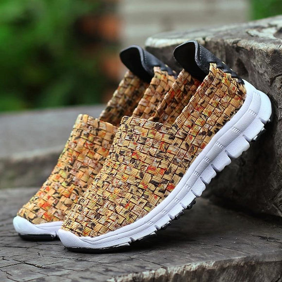 Women Flats Summer Handmade Casual Breathable Shoes
