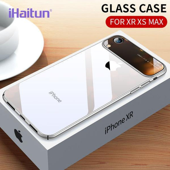 Luxury Lens Glass Ultra Thin Hard Side PC Transparent Case For iPhone X Xs Xr Xs Max(Buy one Get one 10% OFF)