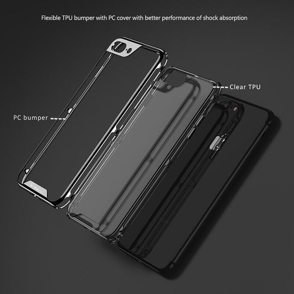 Luxury Electroplated PC Frame & Transparent Silicon Case For iPhone(Buy 2 GET 5% OFF, Buy 3 Get 10% OFF)