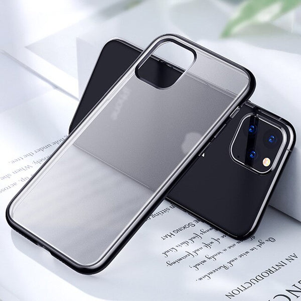 Matte Skin Electroplating Frame TPU Phone Case Cover For iPhone 11 11Pro 11 Pro MAX X XR XS Max 8 7 PLUS