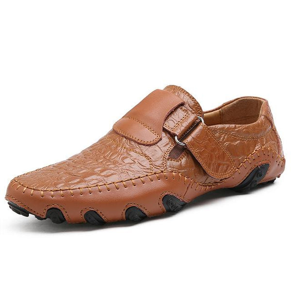Shoes - High Quality Men Leather Flat Casual Shoes