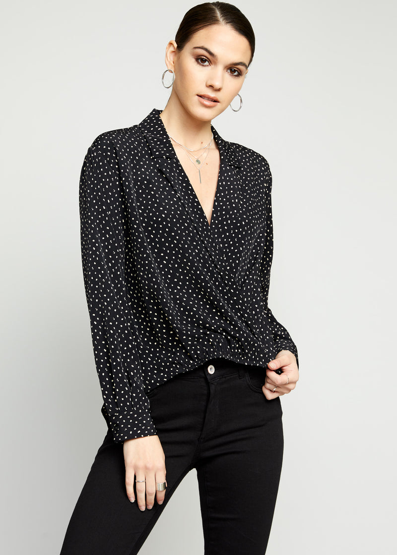 Domino Wrap Top