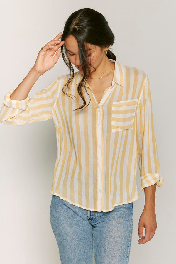Tara Button Down Top