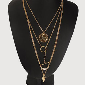 Multilayer Gold Statement Necklace