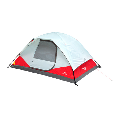 key features Outbound 5-Person 3-Season Lightweight Dome Tent with Carry Bag and Rainfly - Red