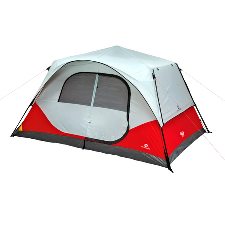 key features Outbound 8-Person 3-Season Instant Pop-Up Cabin Tent with Carry Bag and Rainfly - Red