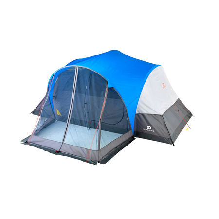 key features Outbound 8-Person 3-Season Lightweight Dome Tent with Screen Porch, Carry Bag and Rainfly - Blue