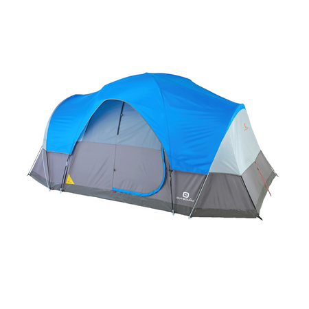 key features Outbound 8-Person 3-Season Lightweight Dome Tent with Carry Bag and Rainfly - Blue