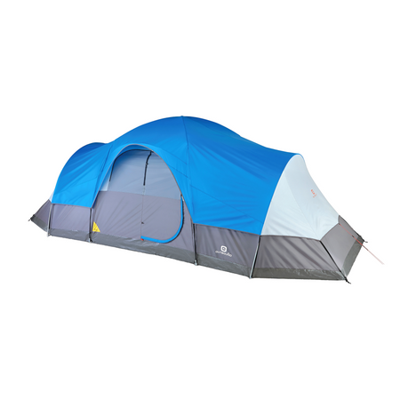 key features Outbound 12-Person 3-Season Lightweight Dome Tent with Carry Bag and Rainfly - Gray/Blue