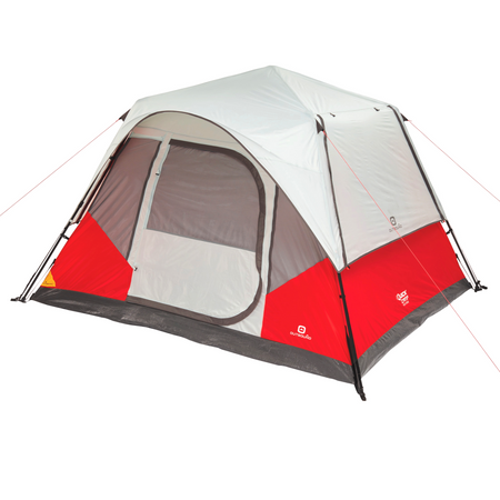 key features Outbound 6-Person 3-Season Instant Pop-Up Cabin Tent with Carry Bag and Rainfly - Red