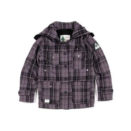 key features Woods Mackinaw Wool Jacket - Purple