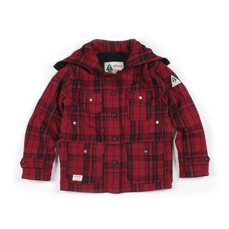 key features Woods Mackinaw Wool Jacket - Red