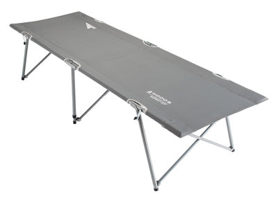 key features Woods Standard Portable Folding Comfort Camping Cot - Gray