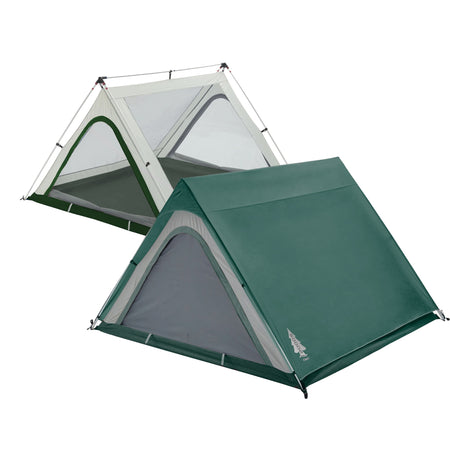 key features Woods A-Frame 3-Person 3-Season Tent - Green