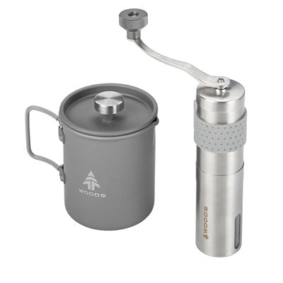 key features Woods Ritual Camping Coffee Maker Set