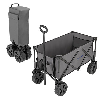 key features Woods Outdoor Collapsible Utility King Wagon - 225 lb Capacity - Gray