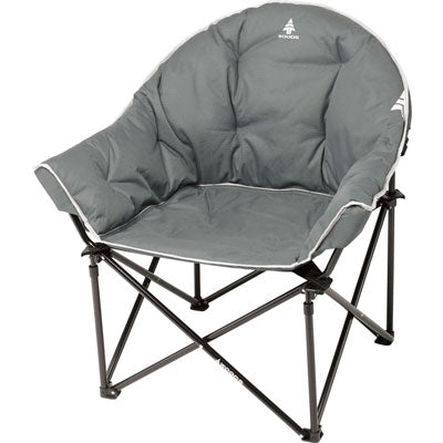 key features Woods Strathcona Fully Padded Folding Camping Bucket Chair -  Gray