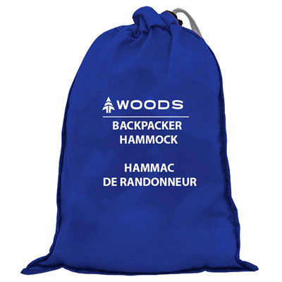 key features Woods Single Backpacker Camping Hammock with Tree Straps