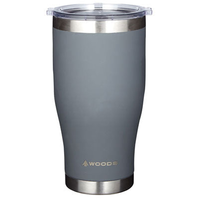 key features Woods 23 oz Vaccum Insulated Stainless Steel Beer Tumbler
