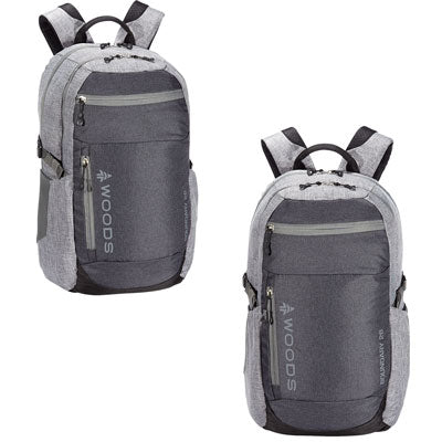 key features Woods Boundary 26L Lightweight Packable Camping Backpack / Daypack - Grey
