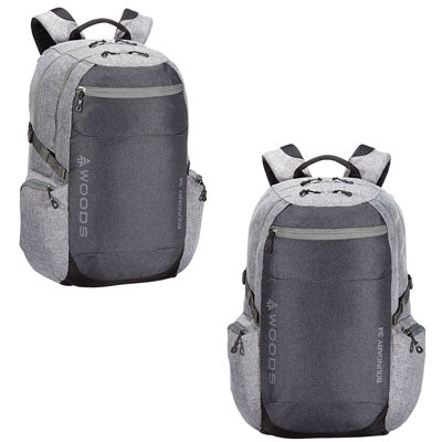 key features Woods Boundary 34L Lightweight Packable Camping Backpack / Daypack - Grey