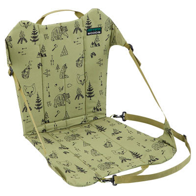 key features Woods Backpacker Folding Camping Chair - Green