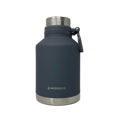 key features Woods 41 oz Growler / Tumbler Vacuum Insulated Stainless Steel Water Bottle Gray