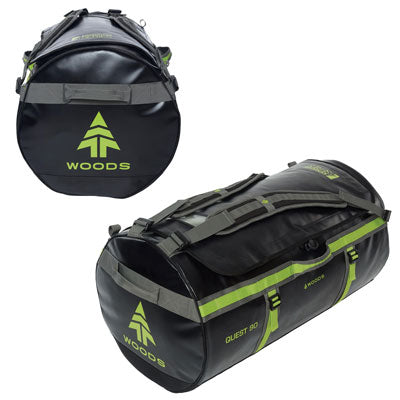 key features Woods Quest Duffel Bag 90L - Black