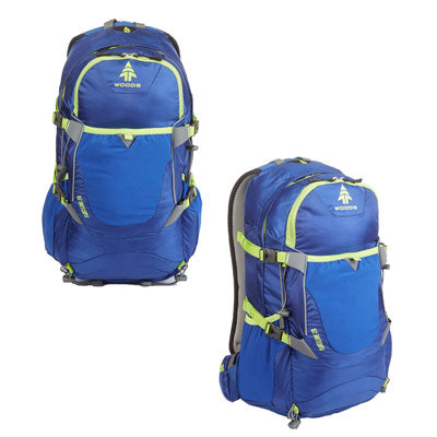 key features Woods Ridgeline 28L Lightweight Packable Camping Backpack / Daypack - Blue