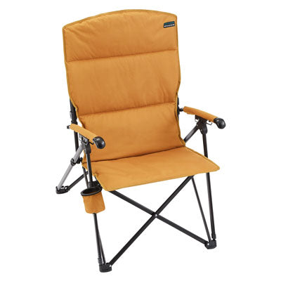 key features Woods Siesta Folding Reclining Padded Camping Chair - Tan